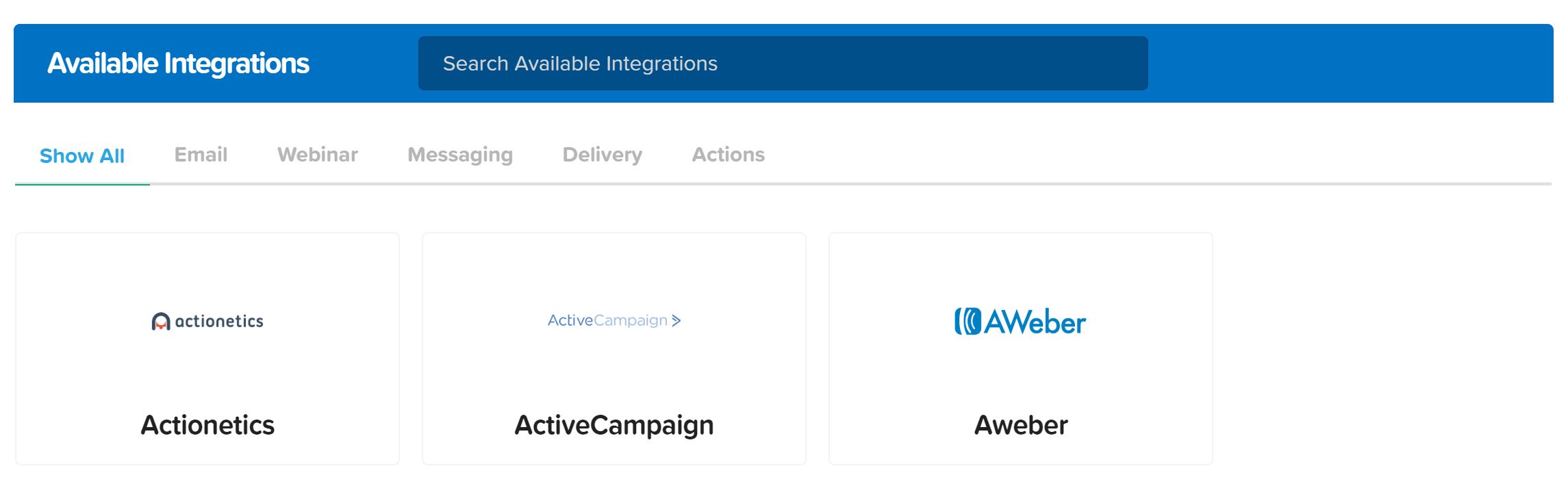 Clickfunnels integraciones
